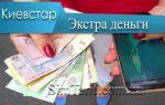 Экстра деньги Киевстар – услуга связи в долг
